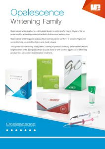 Opalescence Whitening Family Comprehensive Sales Sheet