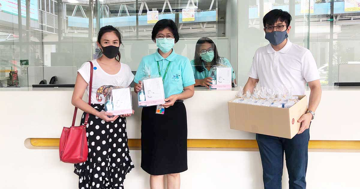 NUDENT-donated-Thermometer-and-Hand-Sanitizer-to-Ramathibodi-Hospital-in-the-COVID-19-outbreak-situation