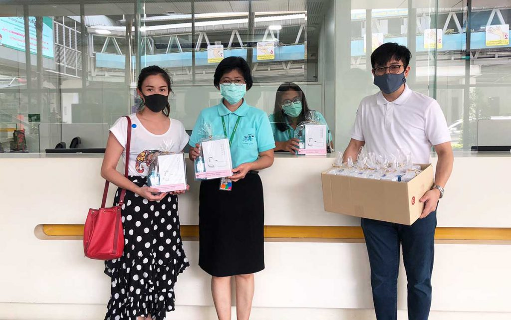 """NUDENT donated """"Thermometer and Hand Sanitizer"""" to Ramathibodi Hospital in the COVID-19 outbreak situation"""