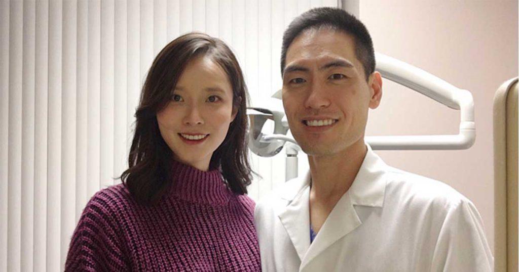 ดร. แซน ลี และภรรยา at Newtown Smile Dentistry